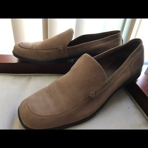 BCBG soft suede rubber soled loafers